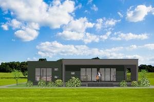 Modern Exterior - Front Elevation Plan #549-12