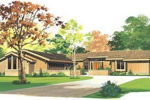 Ranch Exterior - Front Elevation Plan #72-483