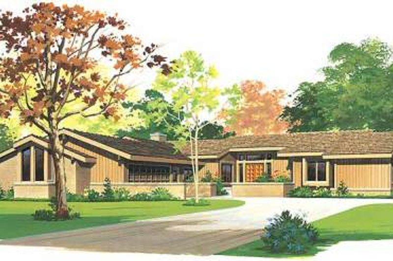 Ranch Exterior - Front Elevation Plan #72-483 - Houseplans.com