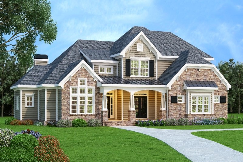 Craftsman Exterior - Front Elevation Plan #419-259