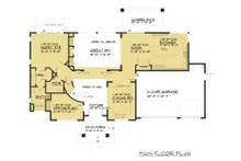 Prairie Floor Plan - Main Floor Plan Plan #1066-94