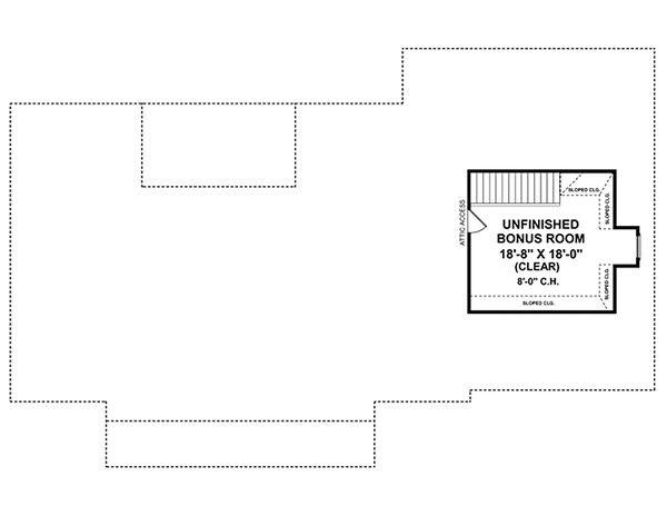 European Floor Plan - Upper Floor Plan #21-186