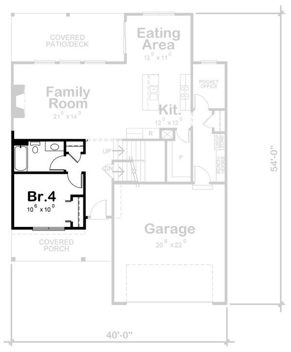 Traditional Floor Plan - Other Floor Plan Plan #20-2397