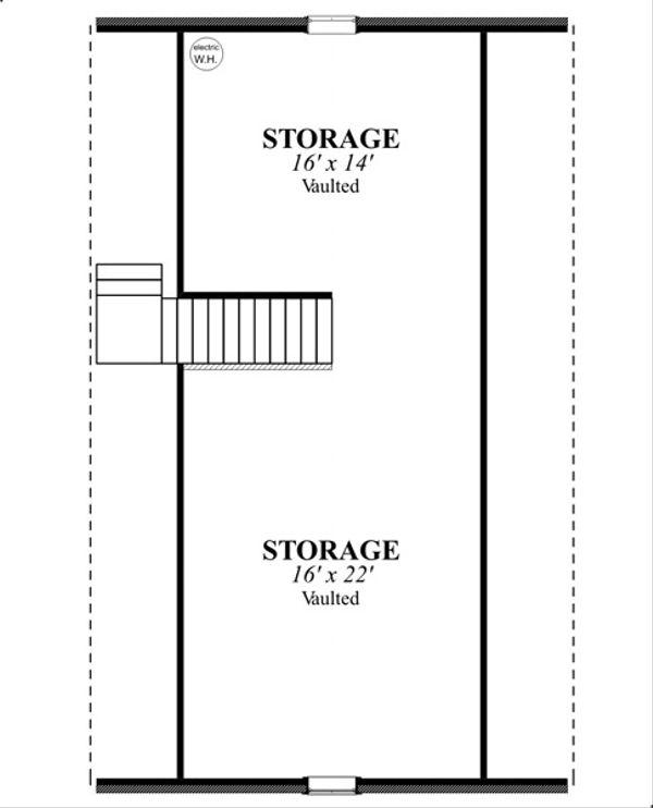 Traditional Floor Plan - Upper Floor Plan Plan #63-331