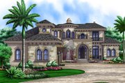 European Style House Plan - 5 Beds 5.5 Baths 8436 Sq/Ft Plan #27-463 Exterior - Front Elevation