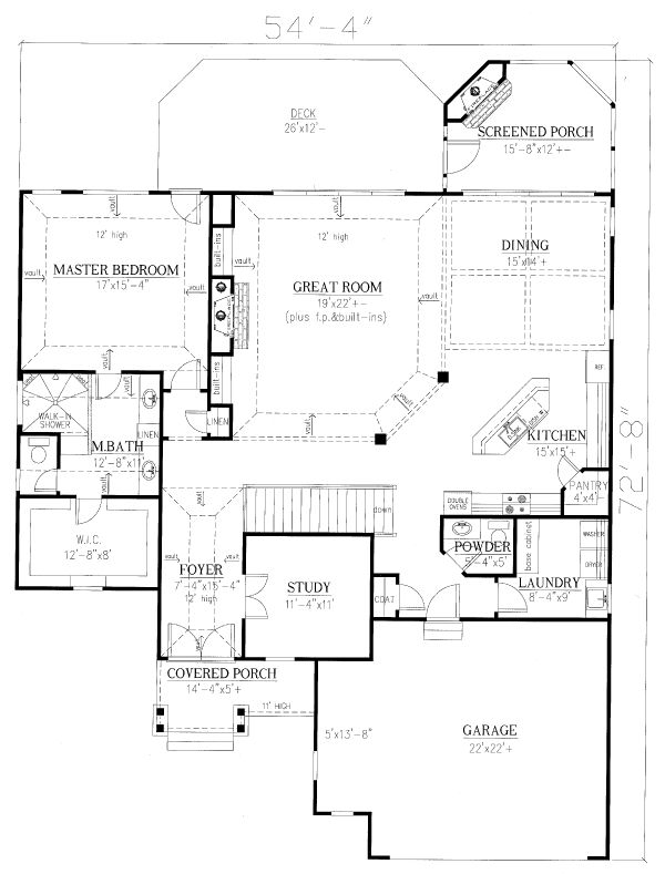 Home Plan - Cottage Floor Plan - Main Floor Plan #437-107
