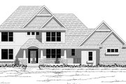 Craftsman Style House Plan - 4 Beds 2.5 Baths 3100 Sq/Ft Plan #51-474 Exterior - Other Elevation