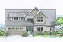 Home Plan - Traditional Exterior - Front Elevation Plan #53-615