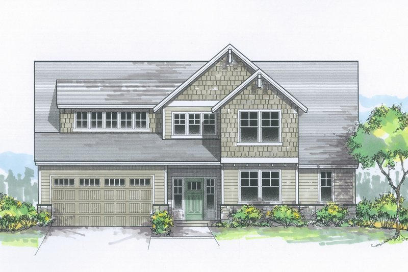 Architectural House Design - Traditional Exterior - Front Elevation Plan #53-615