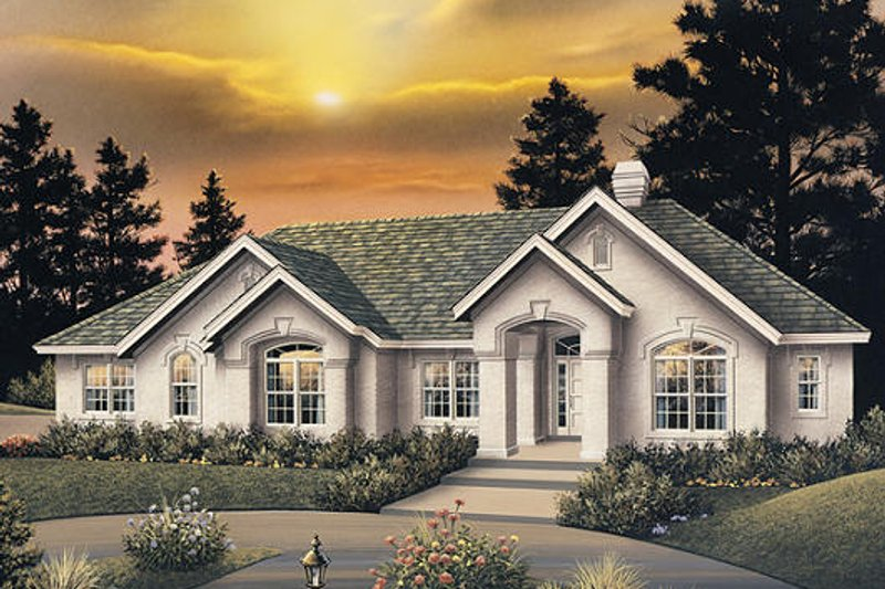 Dream House Plan - Traditional Exterior - Front Elevation Plan #57-277