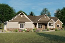 Architectural House Design - Craftsman Exterior - Front Elevation Plan #1064-44