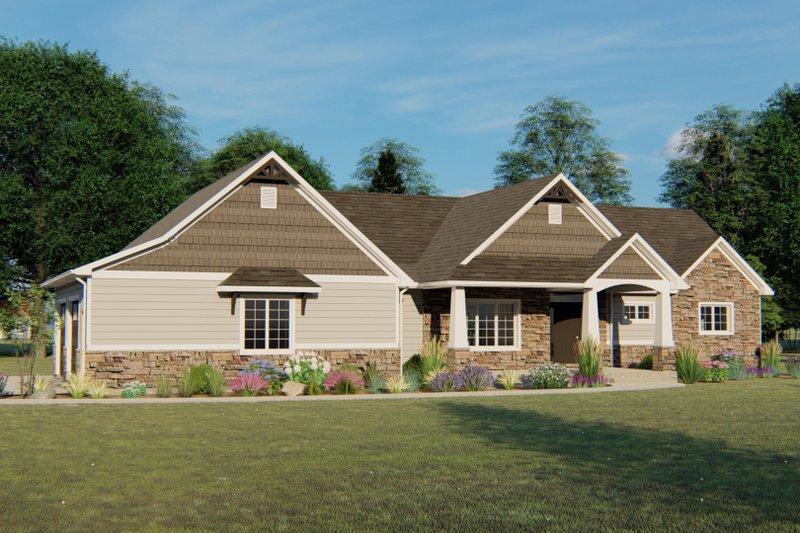 Dream House Plan - Craftsman Exterior - Front Elevation Plan #1064-44