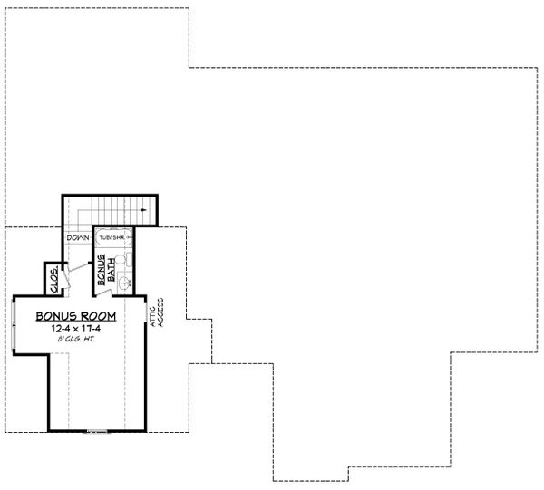 Country Floor Plan - Other Floor Plan Plan #430-194