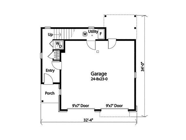 Dream House Plan - Country Floor Plan - Main Floor Plan #22-611
