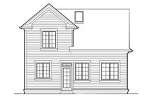 Dream House Plan - Traditional Exterior - Rear Elevation Plan #48-315