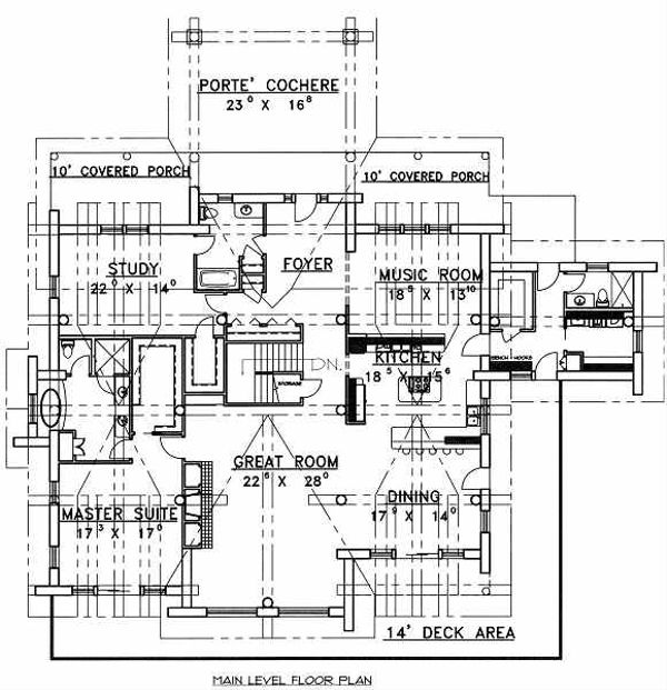 Dream House Plan - Log Floor Plan - Main Floor Plan #117-506