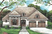 European Style House Plan - 2 Beds 2 Baths 1351 Sq/Ft Plan #20-1396 Exterior - Front Elevation