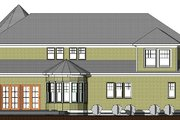 Traditional Style House Plan - 4 Beds 2.5 Baths 3696 Sq/Ft Plan #524-11 Exterior - Rear Elevation