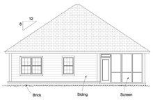 Bungalow Exterior - Rear Elevation Plan #513-2085