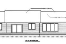 Home Plan - Ranch Exterior - Rear Elevation Plan #98-102