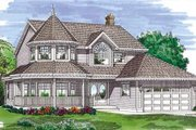 Farmhouse Style House Plan - 4 Beds 2.5 Baths 2301 Sq/Ft Plan #47-285 Exterior - Other Elevation