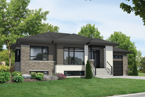 Contemporary Exterior - Front Elevation Plan #25-4549