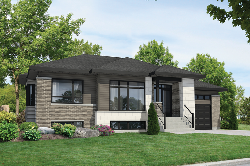 Contemporary Style House Plan - 2 Beds 1 Baths 1116 Sq/Ft Plan #25-4549 Exterior - Front Elevation