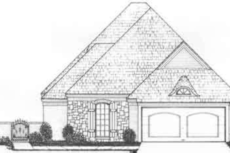 European Style House Plan - 3 Beds 3 Baths 2256 Sq/Ft Plan #310-485 Exterior - Front Elevation