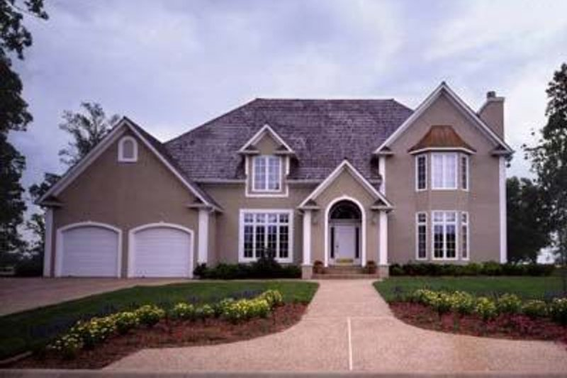 European Exterior - Front Elevation Plan #52-147 - Houseplans.com