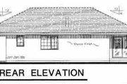 European Style House Plan - 3 Beds 2 Baths 1361 Sq/Ft Plan #18-215 Exterior - Rear Elevation