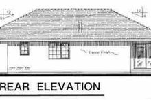 European Exterior - Rear Elevation Plan #18-215