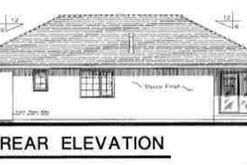 European Exterior - Rear Elevation Plan #18-215 - Houseplans.com