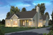 Country Style House Plan - 3 Beds 2 Baths 1308 Sq/Ft Plan #57-649 Exterior - Front Elevation