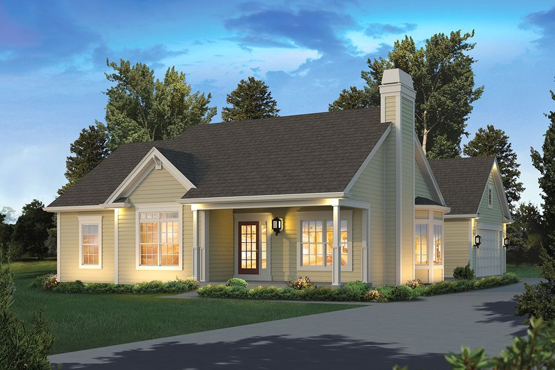 Architectural House Design - Country Exterior - Front Elevation Plan #57-649