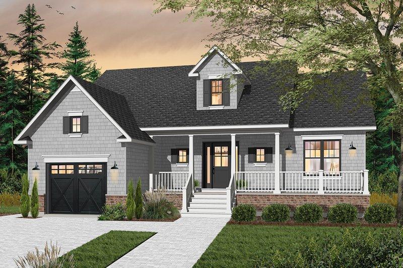 Cottage Exterior - Front Elevation Plan #23-2282