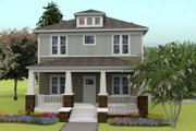 Prairie Style House Plan - 4 Beds 2.5 Baths 2460 Sq/Ft Plan #461-49 Exterior - Front Elevation