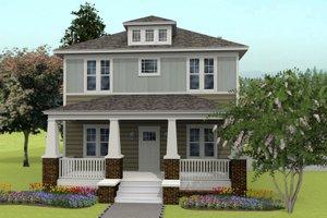 Prairie Exterior - Front Elevation Plan #461-49