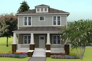 Prairie Exterior - Front Elevation Plan #461-49