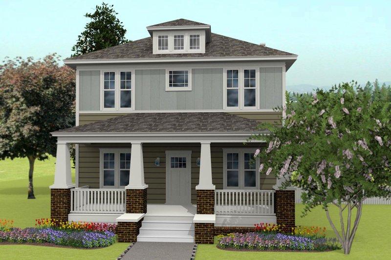 Prairie Style House Plan - 4 Beds 2.5 Baths 2460 Sq/Ft Plan #461-49