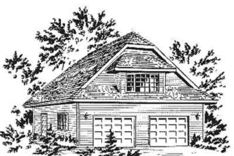 Traditional Style House Plan - 1 Beds 1 Baths 566 Sq/Ft Plan #18-401 Exterior - Front Elevation