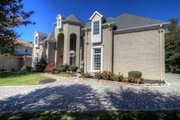 European Style House Plan - 4 Beds 4.5 Baths 4041 Sq/Ft Plan #119-182 Exterior - Front Elevation