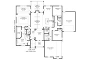 Southern Style House Plan - 3 Beds 2.5 Baths 2491 Sq/Ft Plan #932-80 Floor Plan - Main Floor