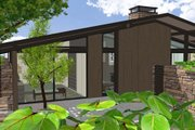 Ranch Style House Plan - 2 Beds 2 Baths 2360 Sq/Ft Plan #544-2 Exterior - Other Elevation