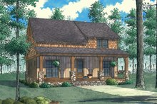 Home Plan - Country Exterior - Front Elevation Plan #923-90