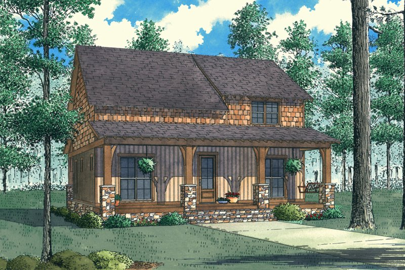 Country Style House Plan - 3 Beds 2 Baths 1764 Sq/Ft Plan #923-90 Exterior - Front Elevation