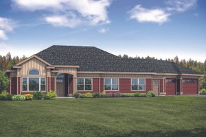 Ranch Exterior - Front Elevation Plan #124-1119