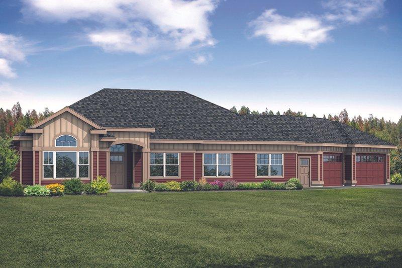 House Plan Design - Ranch Exterior - Front Elevation Plan #124-1119