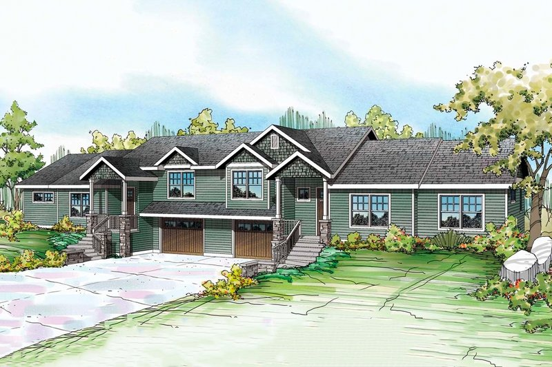 Craftsman Exterior - Front Elevation Plan #124-1076