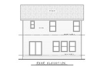 Architectural House Design - Traditional Exterior - Rear Elevation Plan #20-2432