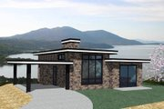 Modern Style House Plan - 2 Beds 2 Baths 1076 Sq/Ft Plan #509-8 Exterior - Front Elevation